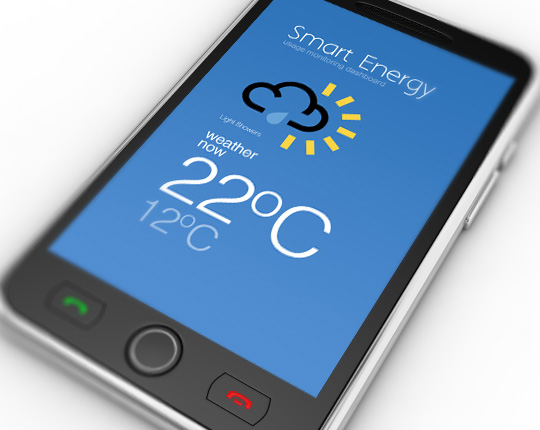 smart energy UX design - mobile weather