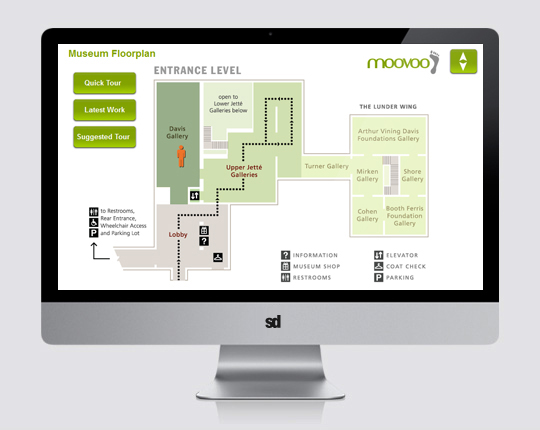 moovoo UX - museum map view