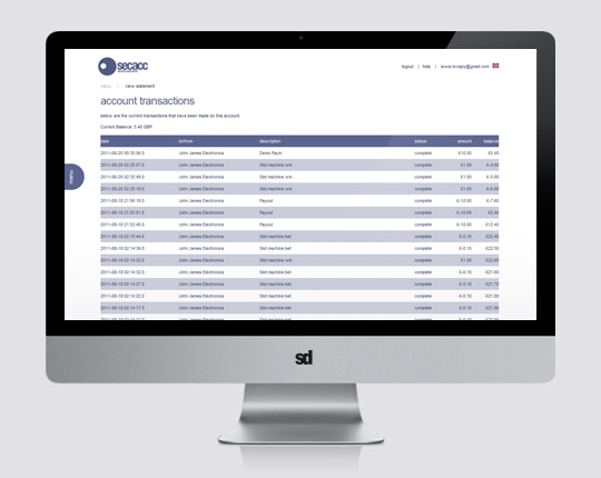 secac UX transaction list